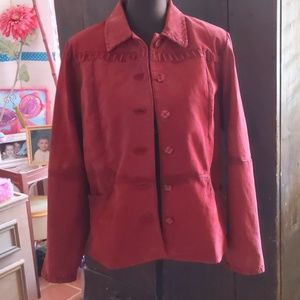 Relativity Red Leather Jacket